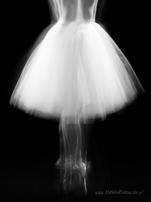 ballet dancer young girl low key bw